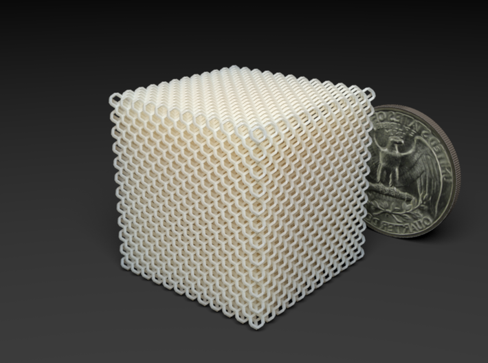 Microstructures: Diamond 2.5mm cell 3d printed
