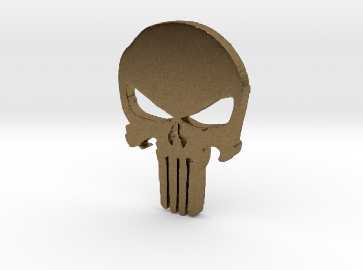 Punisher Pendant 25mm 3d printed