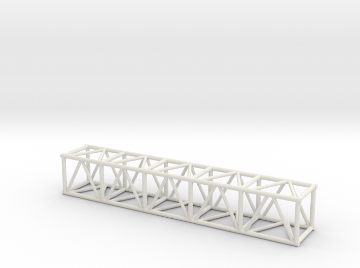 "10' 20.5""sq Box Truss 1:48 3d printed"
