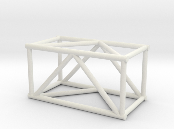 "2'6"" 16""sq Box Truss 1:48 3d printed"