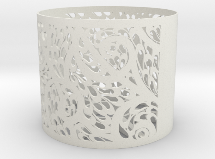 Lamp Shade Flora Design 3d printed