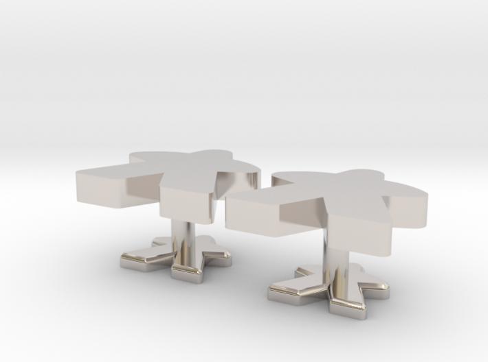 Meeple Cufflinks 3d printed