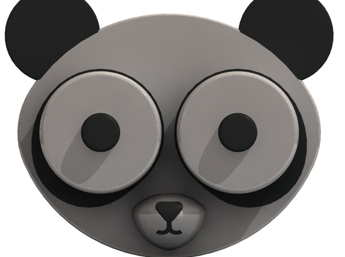 Panda Contact Lens Case 3d printed Full face render of assembled case