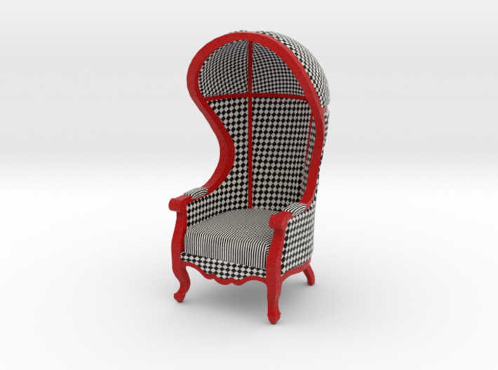 1:24 Half Scale Courtly Check Carrosse Chair 3d printed