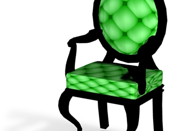 1:144 Micro Scale LimeBlack Louis XVI Oval Chair 3d printed