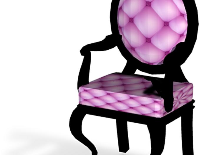1:144 Micro Scale PinkBlack Louis XVI Oval Chair 3d printed