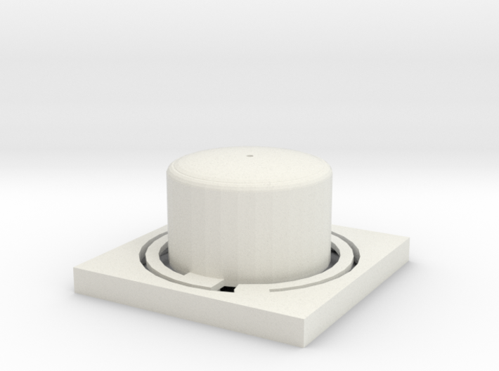 LG TROMM Dryer Power Button, Power Button LG Dryer 3d printed White - can be painted any color you want using acrylic paint.