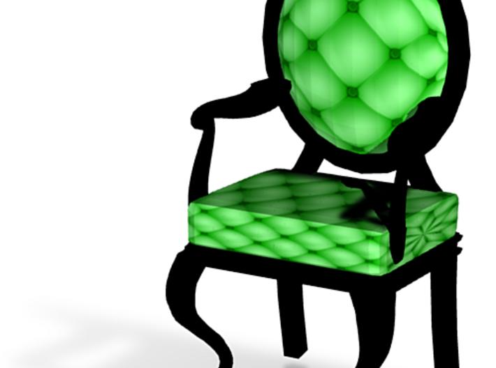 1:48 Quarter Scale LimeBlack Louis XVI Chair 3d printed