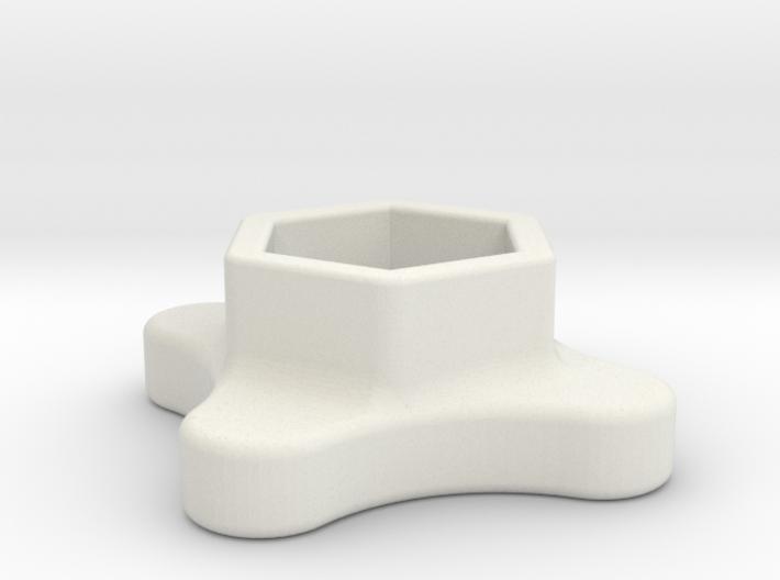 SMA Knob 3d printed