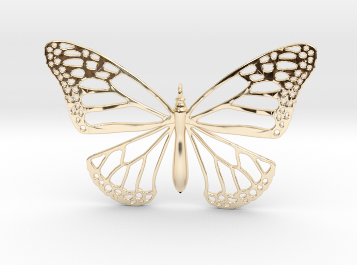 Smooth Monarch Pendant 3d printed