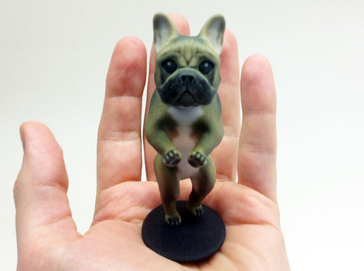 Take it Easy Brown Frenchie 3d printed