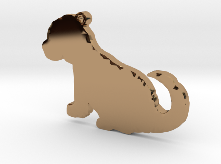 Cute Puppy Necklace Pendant 3d printed