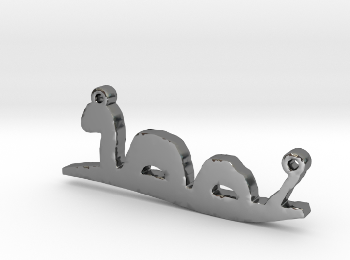 Loch Ness Monster Necklace Pendant 3d printed