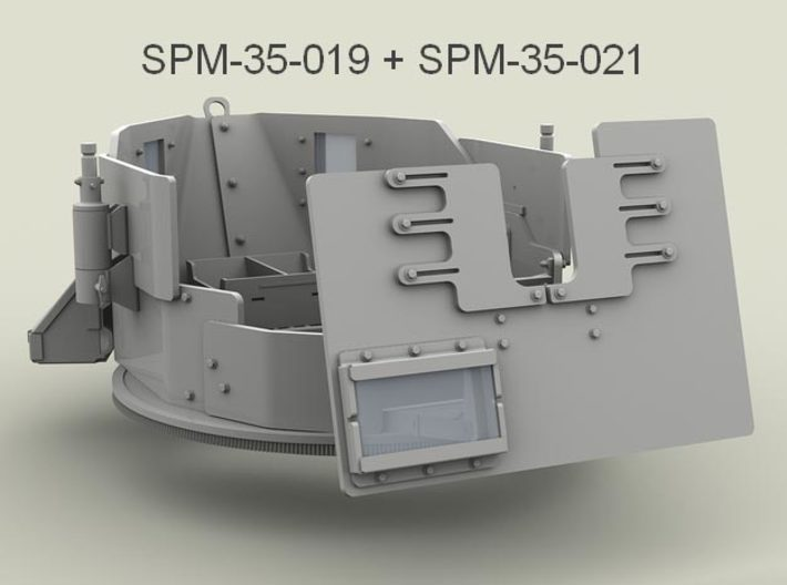 1/35 SPM-35-021 shield with window for SAG II 3d printed