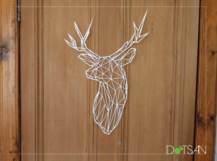 Large Flat Stag 3d printed