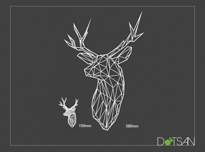 XL Flat Stag Trophy Head Wall Mounted 3d printed Quite a bit bigger than the smaller version.