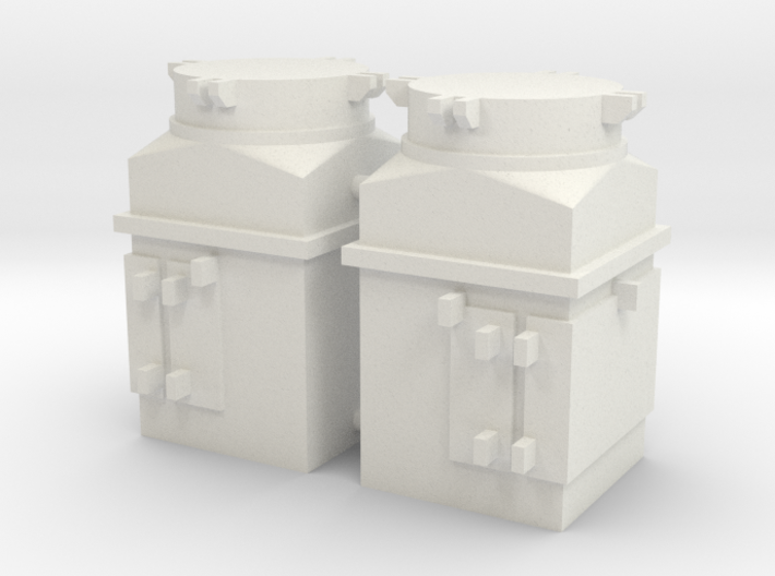 1/16 scale M4 Sherman Air Filters 3d printed