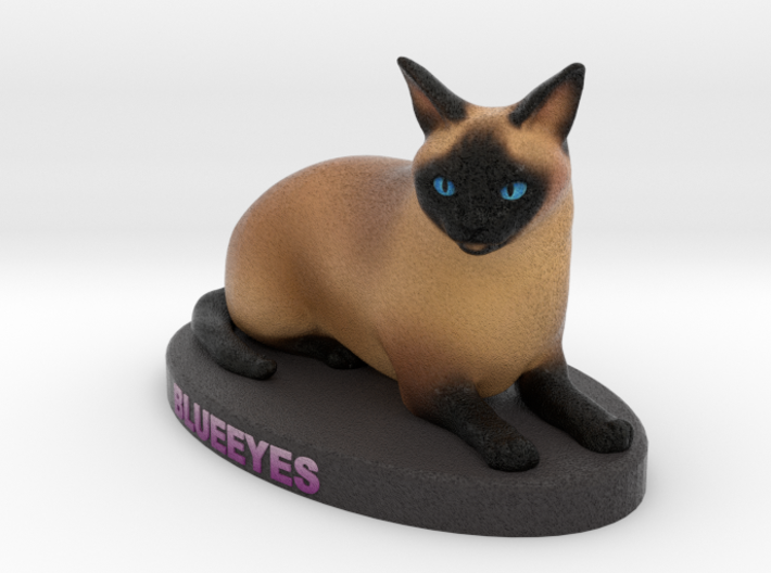 Custom Cat Figurine - BlueEyes 3d printed
