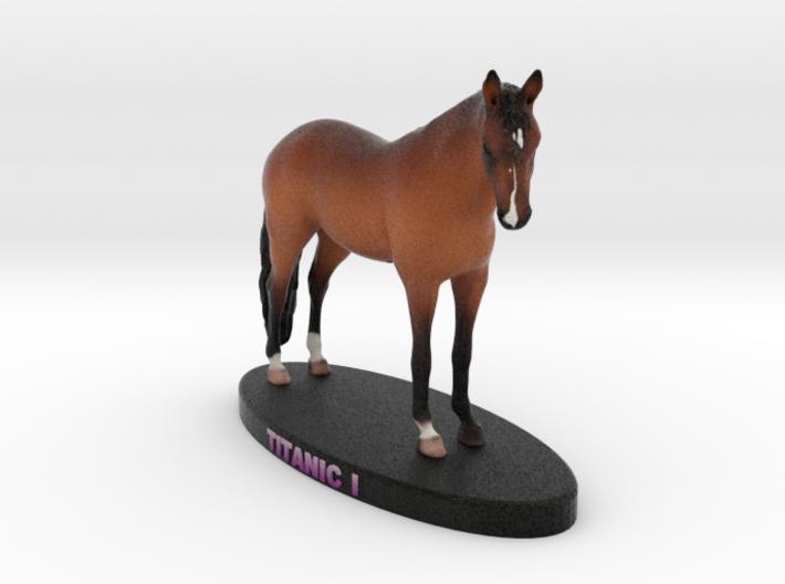 Custom Horse Figurine - Titanic 3d printed