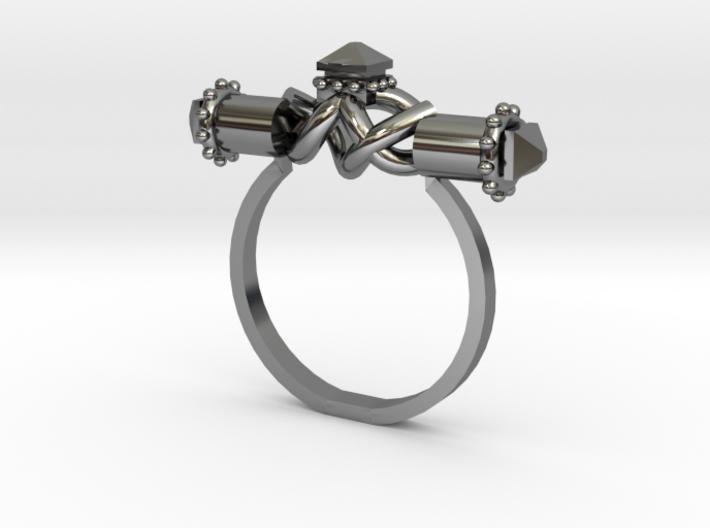 Serpent Capsule Ring - Sz. 7 3d printed