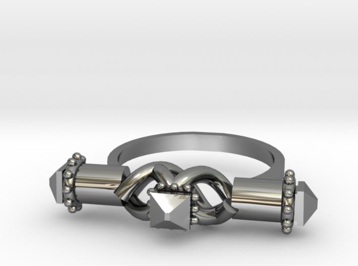 Serpent Capsule Ring - Sz. 9 3d printed