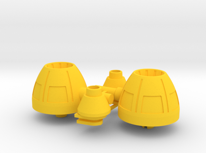 Playmobil Top Agents 4876, rear thrusters (3 of 4) 3d printed