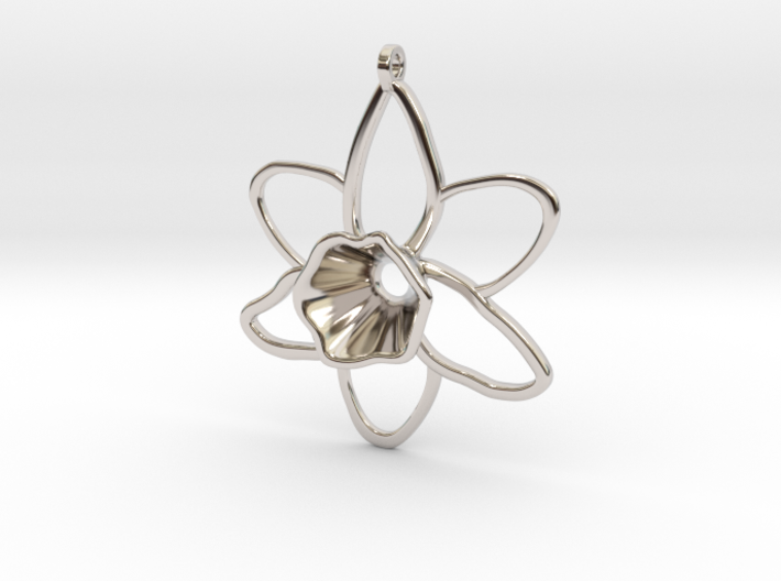 Daffodil Pendant for Necklace 3d printed