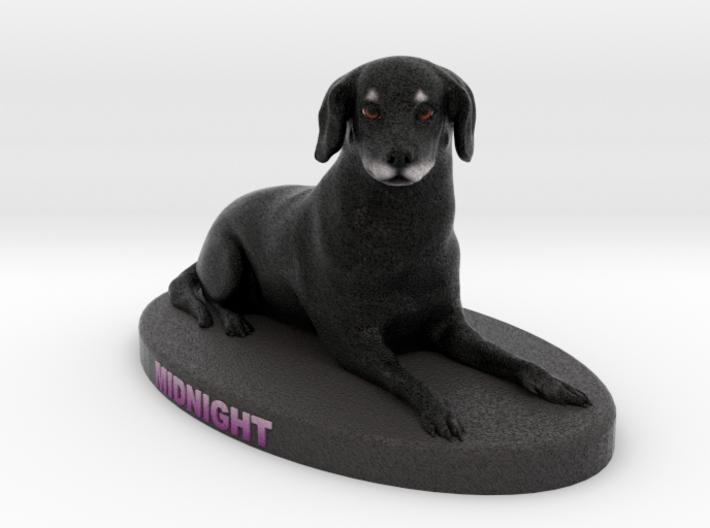 Custom Dog Figurine - Midnight 3d printed