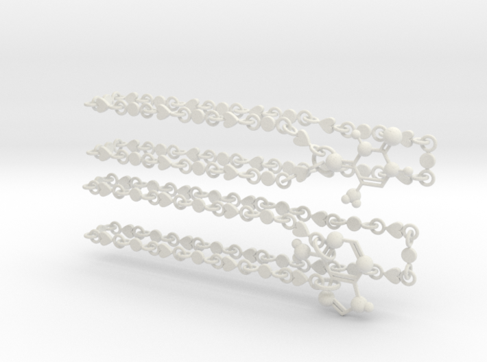 Adenine/thymine Couple Necklace 3d printed