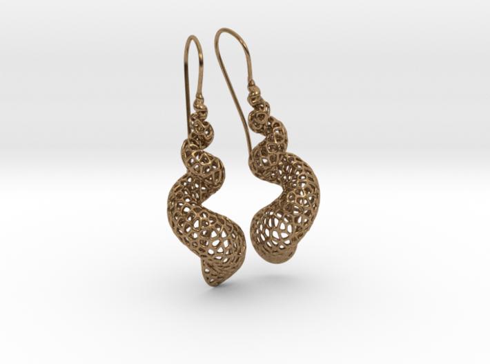 Turitella Shell Voronoi Fishhook Earring Pair 3d printed