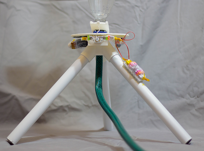 Littlebits Water Rocket LAUNCHPAD #shapebits 3d printed Launchpad with Littlebits attached