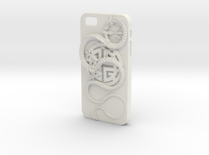 iPhone5s Case - Lu Prosperity Symbol with Dragon 3d printed