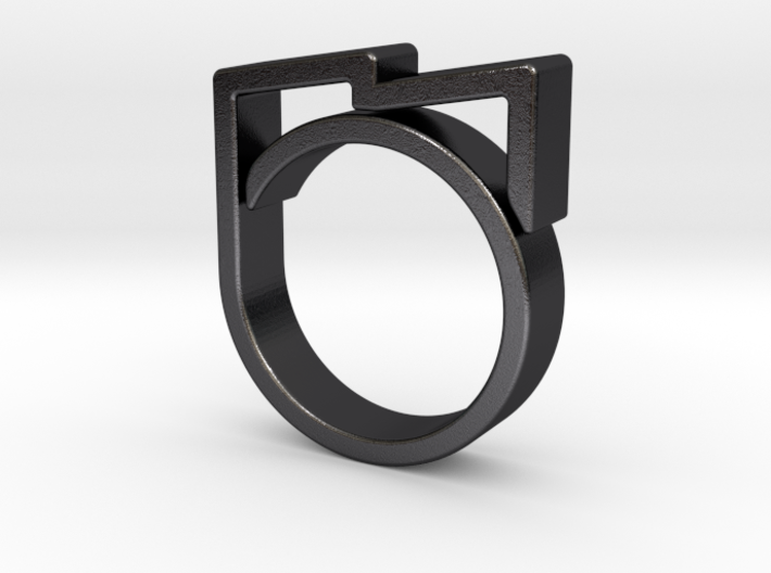 Adjustable ring for men. Model 6. 3d printed