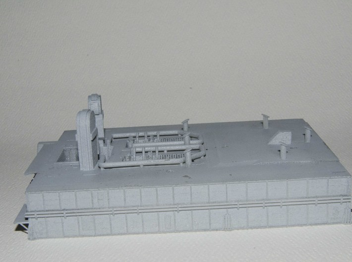 1/400 Shuttle MLP, launch pad NASA 3d printed Side elevation. It's not easy to see, but the MLP numbers are raised, to make them easier to paint.