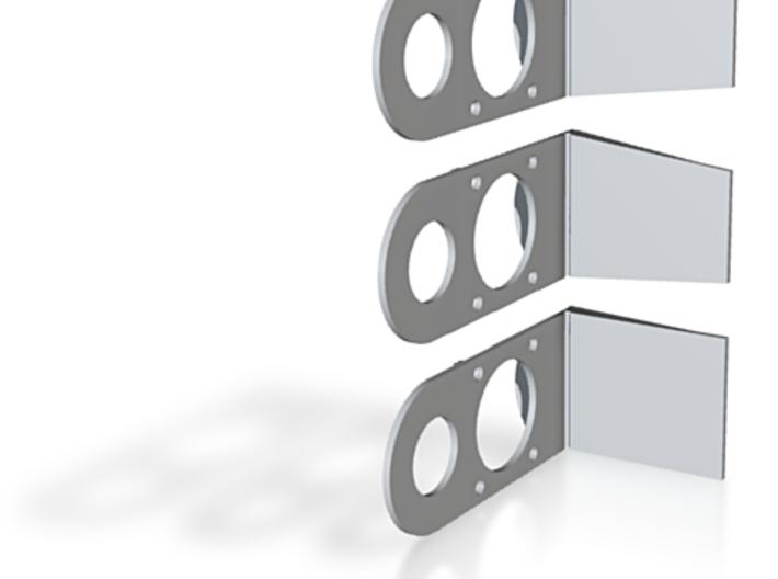 Set of 3 Saddle Markers / Set van 3 zadelhoeken 3d printed