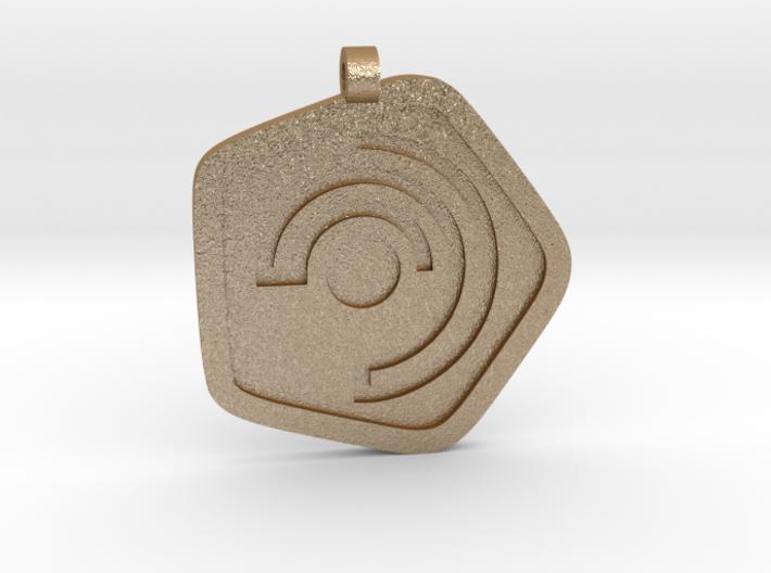 New Harmony Pendant | Flat Borders 3d printed