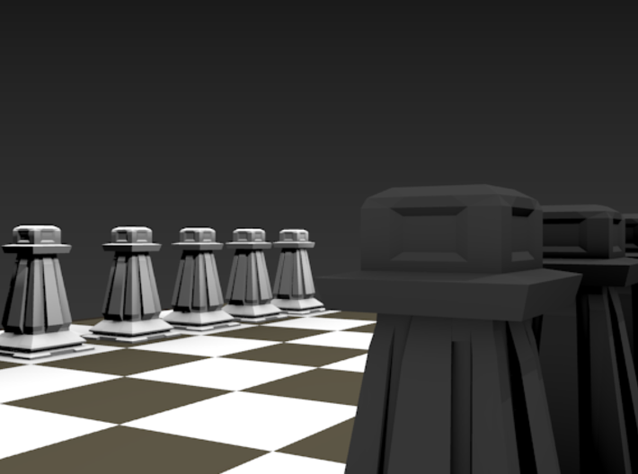 Pawn - Mini Chess Piece 3d printed Chess board not included. Multiple pieces shown for multiple colors.