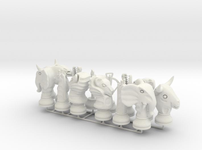 Lion Chess Big Animals 3d printed