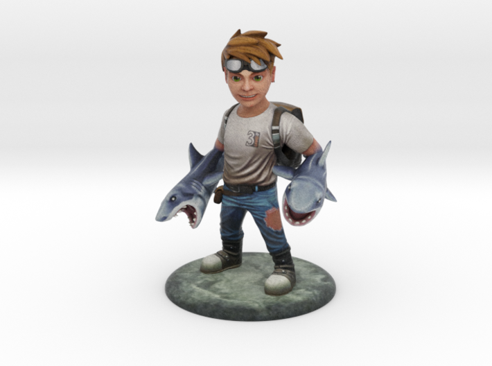 Sharks for Arms Hero Boy 3d printed