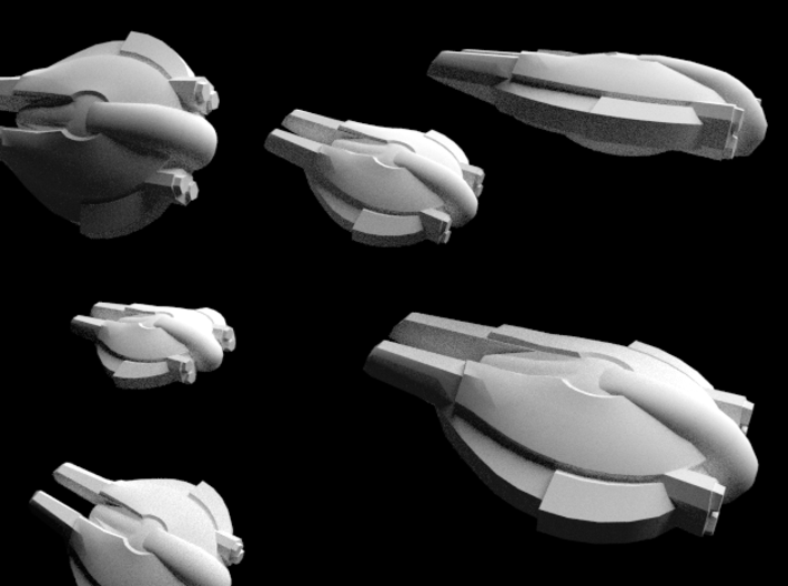 Pact Swarmer Fighters 6-pack 3d printed