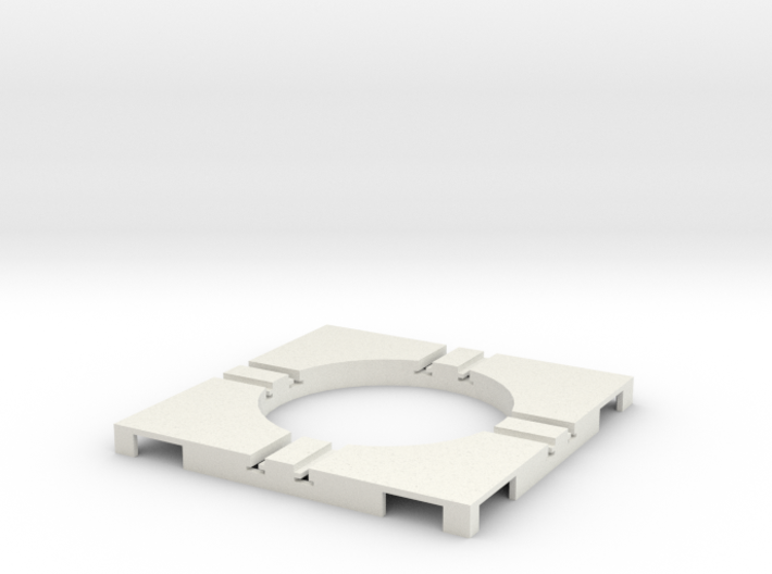 T-65-wagon-turntable-36d-100-corners-flat-1a 3d printed