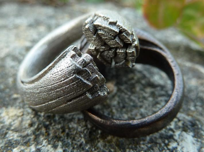 Cracking Wood ring - Size6 3d printed