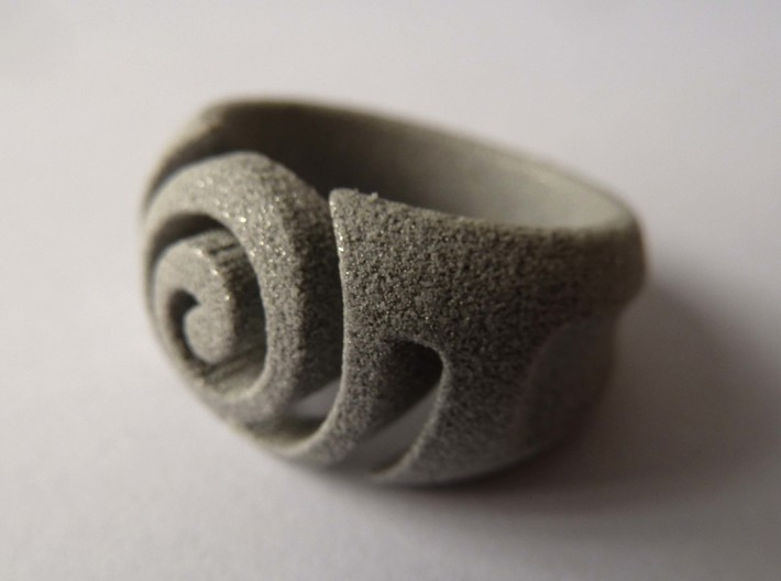 Spiral ring - Size 5 3d printed