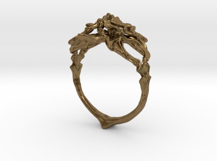 Ring Nouveau03 V02 3d printed