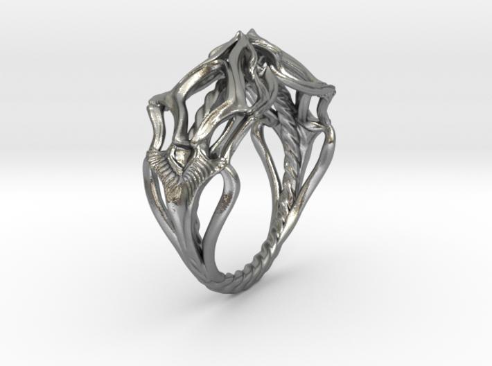 Ring Nouveau01 V02 3d printed