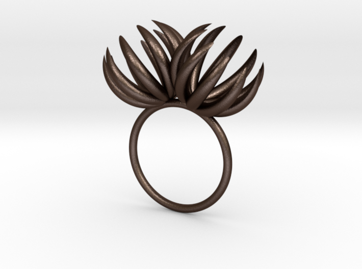 Double Bloom Ring size P1/2 3d printed