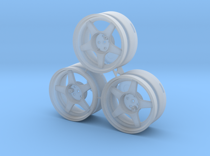 CATERHAM 5x Spoke x3 (1-12) Frosted Ultra Detail 3d printed