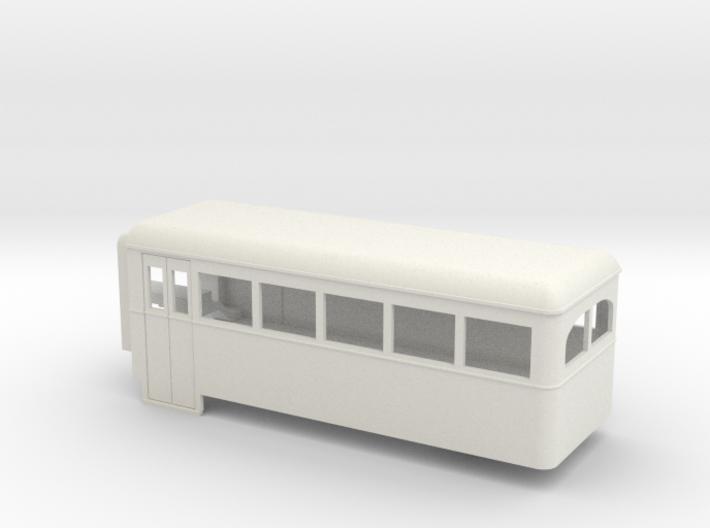 009 articulated railcar short 5 window rear part 3d printed