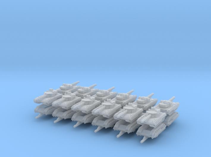 3mm T-14 Armata Main Battle Tanks (24pcs) 3d printed