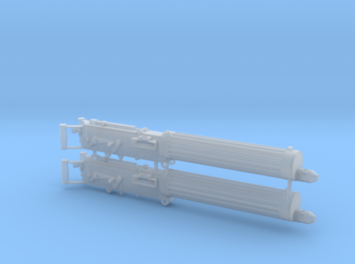 Two 1/16 scale Vickers Heavy Machine Guns. 3d printed